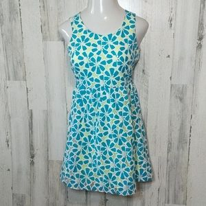 JUSTICE Teal Fit and Flare Lacy Floral Dress 18